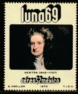 MEXICO C377, Physists and Astronomers - ISAAC NEWTON. MINT, NH. F-VF.