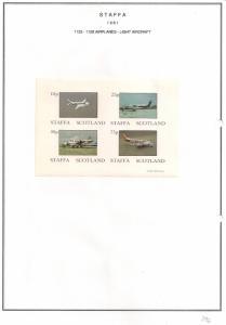SCOTLAND - STAFFA - 1981 - Light Aircraft - Imperf 4v Sheet - M L H