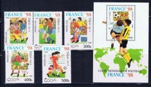 Laos 1268-73 MNH 1996 Soccer