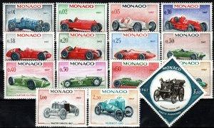 Monaco #648-661, C73  MNH  CV $10.35 (X7112)