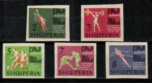 Albania Scott 686-90 Mint NH imperf (Catalog Value $35.00)