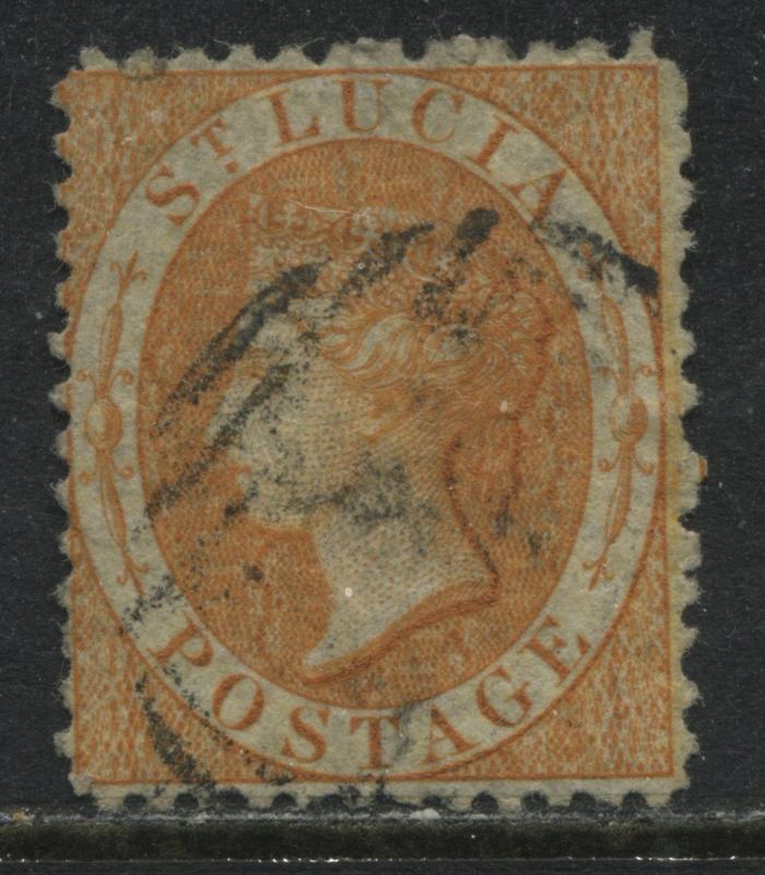 St. Lucia QV 1864 (1/) orange used