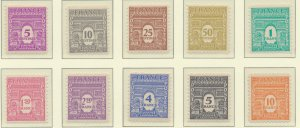 France Stamps Scott #2N1 To 2N10, Mint Never Hinged - Free U.S. Shipping, Fre...