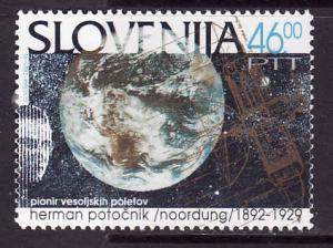 Slovenia-Sc#149-unused NH set-Satellite Orbit-1992-