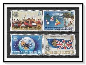British Virgin Islands #442-445 Commonwealth Day Set MNH
