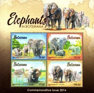 Botswana - 2016 Elephants MS MNH**