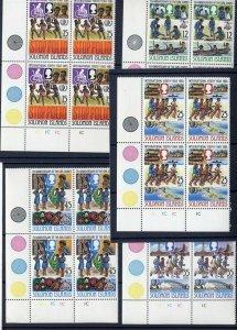 1985 Solomon Islands Girl Guides 75th anniv IYY pl blocks