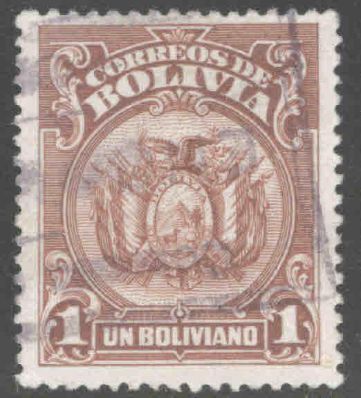 Bolivia Scott 136 Used coat of arms stamp