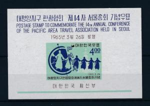[33695] Korea 1965 Pacific area Travel association Souvenir Sheet MNH BL.202