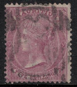 Mauritius 1863-1872 SC 41 Used CV $65