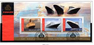 Isle of Man Sc 1239 2008 Cunard Liners stamp sheet used