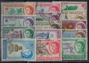 Cayman Islands 1962 SC 153-167 Used Set SVC$ 60.00