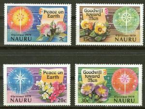 Nauru # 206-09 Christmas 1979 (4)  Mint NH