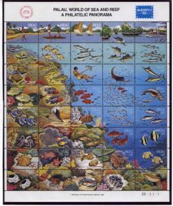 Palau 103 MNH Marine Life, Fish, Shells, Coral Reef, Boat, Diver, Sharks