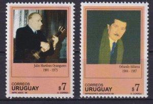 Uruguay 1999 Personalities  (MNH)  - Celebrities