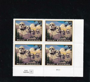 $4.80 Mt. Rushmore Priority Mail Plate Block/4, Sc #4268, MNH (13908)