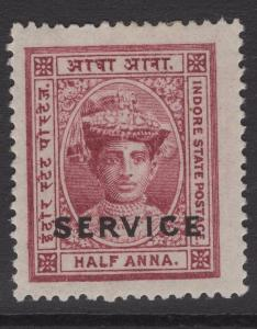 INDIA-INDORE SGS7 1904 ½a LAKE MTD MINT