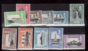 St Lucia #95 - #105 VF/NH