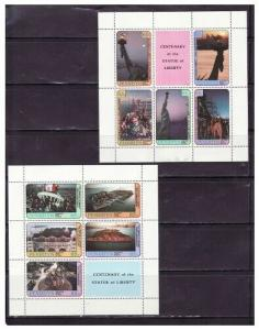 Penrhyn Isl - Statue of Liberty 2 Sheets/5 Stamps 350-1
