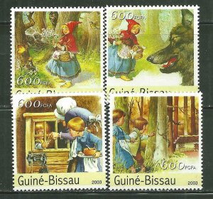 Guinea-Bissau MNH Set Grimm Fairy Tales 2003