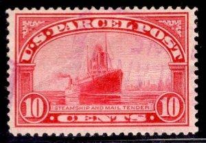 US Stamp #Q6 10c Carmine Rose Parcel Post USED SCV $3.00