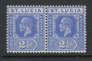 St. Lucia, Scott 81 (SG 96), MNH pair
