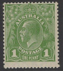AUSTRALIA SG95b 1928 1d SAGE GREEN DIE II p13½x12½ MTD MINT