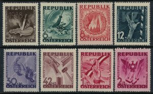 Austria #B171-8*  CV $2.85 End of Nazi occupation set