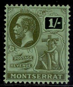 MONTSERRAT GV SG78, 1s black/emerald, LH MINT.