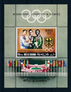 [42997] Ras al Khaima 1969 Olympic games Munich MNH Sheet