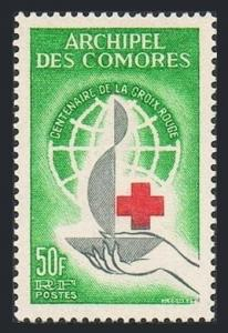 Comoro Isls 55,MNH.Michel 53. Red Cross Centenary,1963.