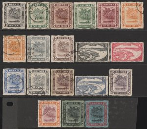 BRUNEI : 1924 River View set 1c-$1, wmk multi script CA.