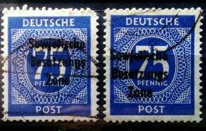 Germany SBZ shades used