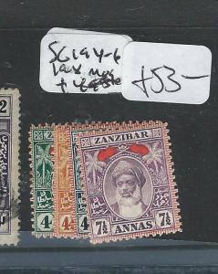 ZANZIBAR (P1907B) SG 194-6, 198 MOG