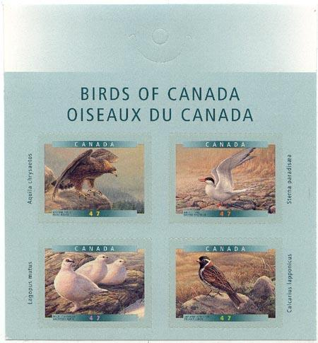 Canada - 2001 Self Adhesive Birds Complete #1890-1893
