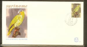 1985 - Rep. Surinam FDC E087 - Fauna & Animals - Birds - Parrot [B33_101]