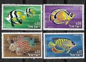 Israel # 231-34  Red Sea Fish   1962   (1) Mint NH