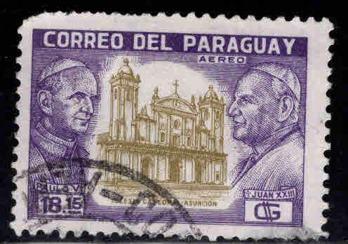 Paraguay Scott  826 Used Vatican Pope stamp