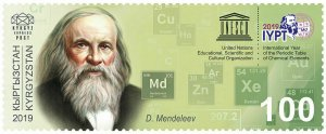 KYRGYZSTAN (KEP) / 2019 - The International Year of the Periodic Table, MNH
