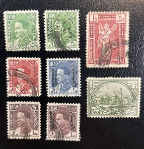 Iraq #1,3,63,64,66,O73,O74,O75 Used - British Mandate + Official Stamps