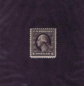 SC# 342 UNUSED ORIGINAL GUM H $1 ONE DOLLAR WASHINGTON, 1909, FINE VERY FINE