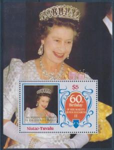 Tuvalu-Niutao stamp 60th birthday of Elizabeth II block 1986 MNH Mi 4 WS180307