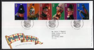 Great Britain 1990a Punch and Judy Typed FDC