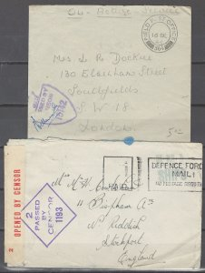 COLLECTION LOT # 2441 GREAT BRITAIN ARMY 2 COVERS