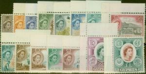 Cyprus 1955 set of 15 SG173-187 Superb MNH