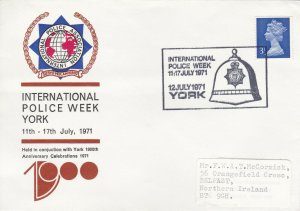 GBP114) FDC GB 1971, Commemorative cover for IPA Police Week at York, 12/7/71