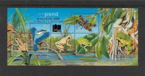 BIRDS - AUSTRALIA #1790g  POND LIFE  BANGKOK 2000  MNH