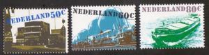 Netherlands 1980  MNH transport   ship truck train