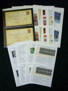 STANLEY GIBBONS PRESTIGE BOOKLET UNCUT PAIRS OF COVERS, INTERLEAVES & SELVEDGES