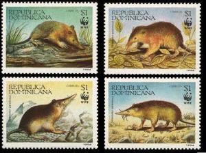 Dominican Rep. WWF Hispaniolan Solenodon 4v 1994 MNH SC#1158 a-d